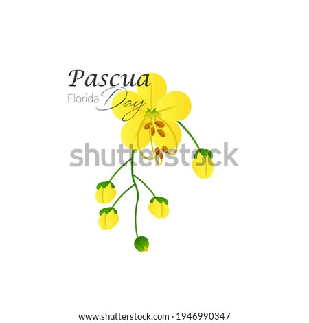 vector Illustration of Pascua  Florida Day background poster Foto stock ©