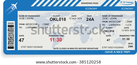Vector illustration of pattern of boarding pass