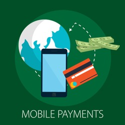 Vector illustration of payment methods - security an ecommerce concept with