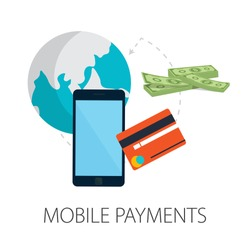 Vector illustration of payment methods - security & ecommerce concept with