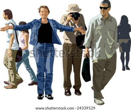 Vector illustration of peoples group
