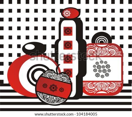 Vector illustration of perfume - stock vector