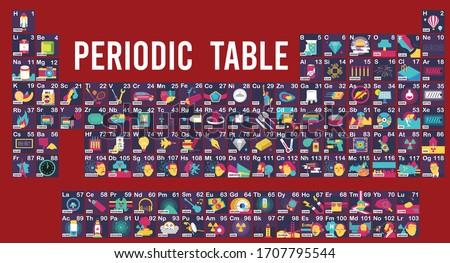 vector illustration of periodic