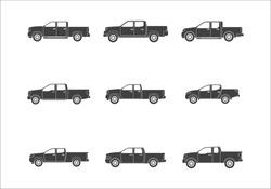 Vector Illustration of Pickup Truck
