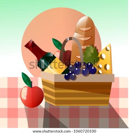 vector illustration of picnic