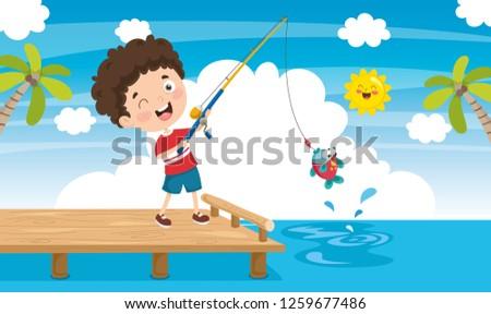 vector illustration of pier