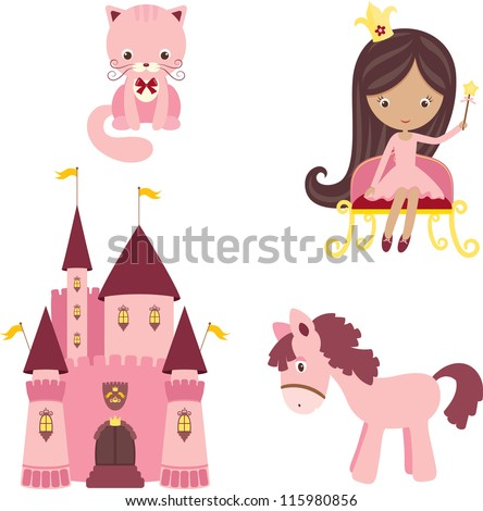 vector illustration of pink