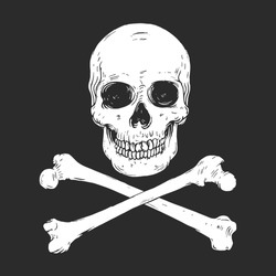 Vector illustration of pirate flag