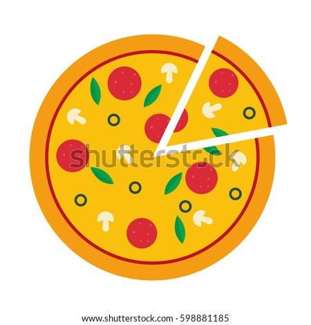 vector illustration of pizza on isolate background