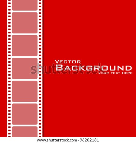 vector illustration of plain background with film stripe