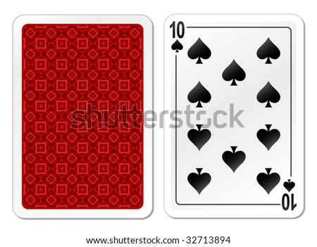 vector illustration of playing cards - stock vector