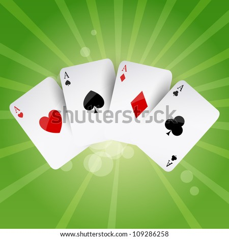 Vector Illustration of Poker Aces