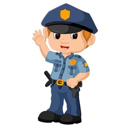 vector illustration of policeman cartoon