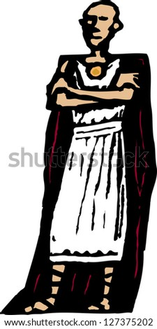 vector illustration of pontius