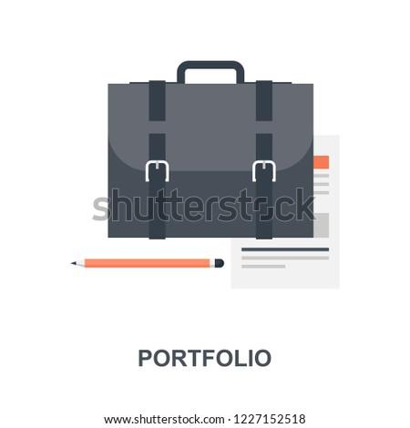 Vector illustration of portfolio flat design concept.