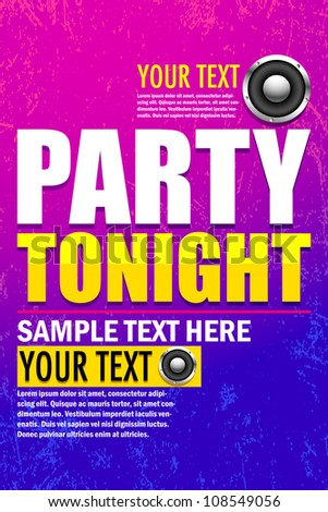 vector illustration of poster for music party