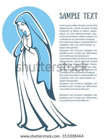 vector illustration of praying
