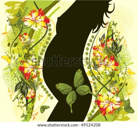 vector illustration of pregnancy