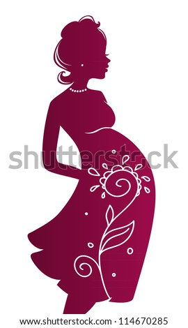 Vector illustration of Pregnant woman
