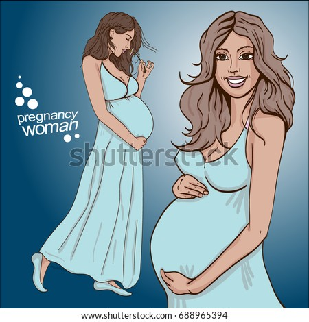 vector illustration of pregnant