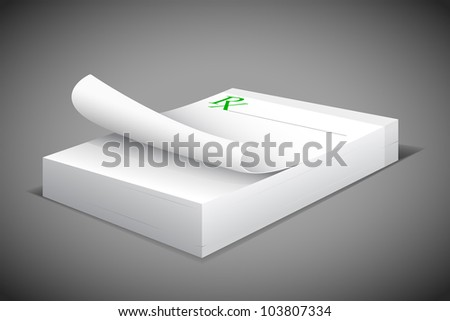 vector illustration of prescription notepad against abstract background