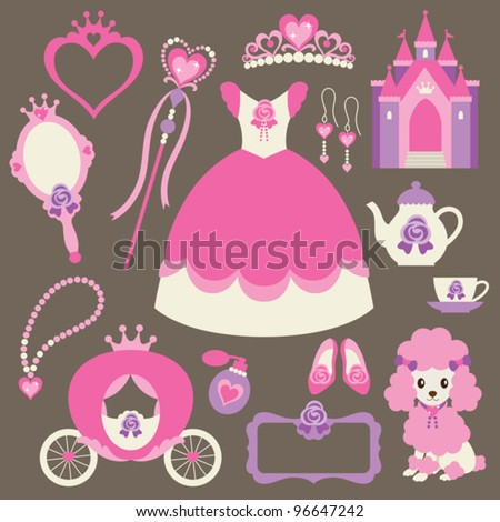 vector illustration of princess