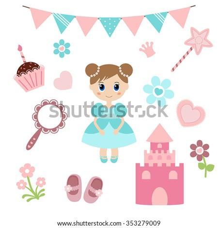 vector illustration of princess