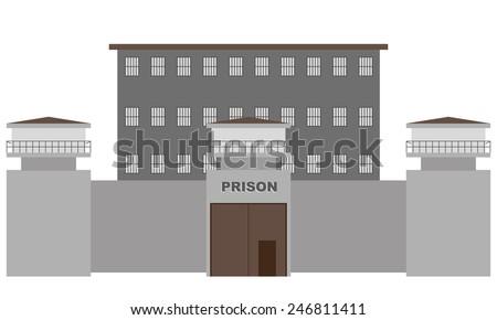 vector illustration of prison building