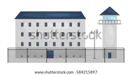 vector illustration of  prison