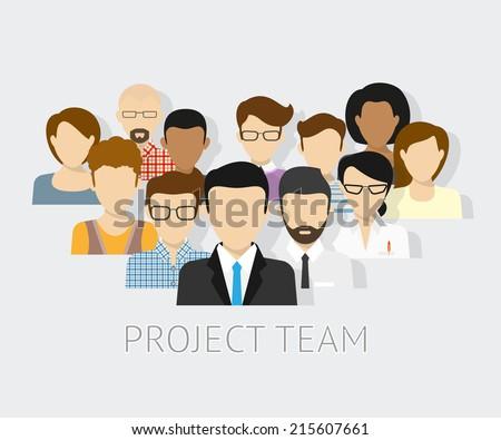Набросок дизайн команда руководитель