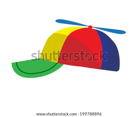 Vector illustration of propeller cap