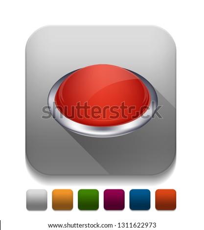 Vector illustration of push button - 3d button