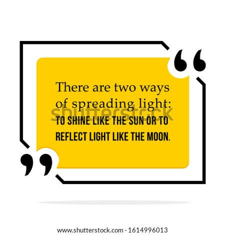 vector illustration of quote