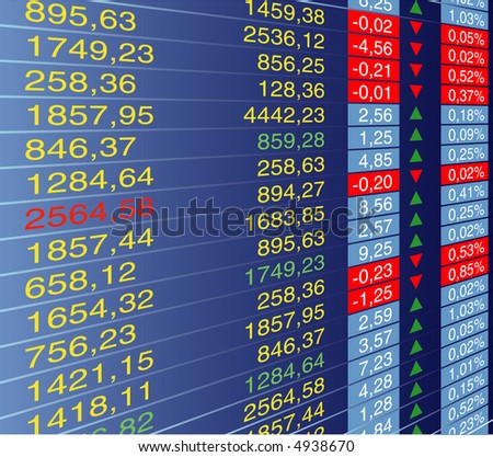 vector illustration of quotes at the stock exchange - stock vector