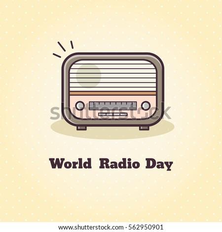 Vector illustration of radio.