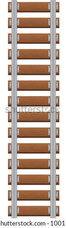 Vector illustration of railroad