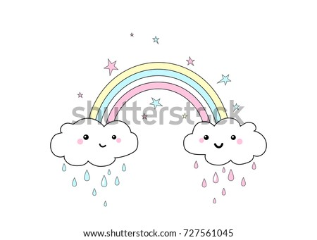vector illustration of rainbow