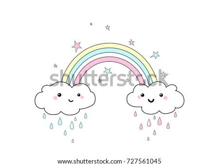 vector illustration of rainbow...