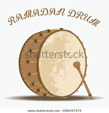 Vector illustration of Ramadan drum.