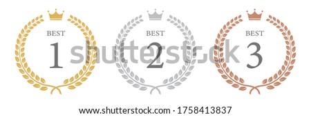 Vector illustration of ranking decoration. ストックフォト ©