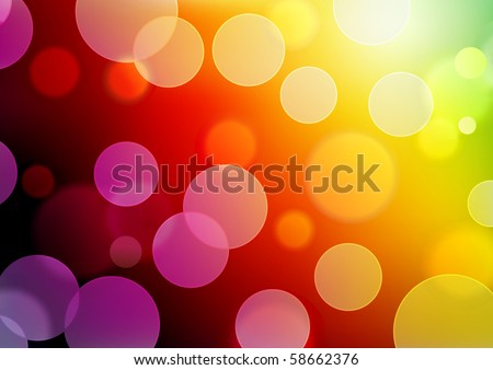 Vector illustration of red abstract glowing background with blurred neon light dots