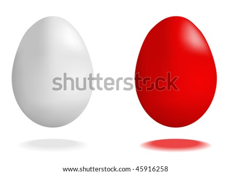 Vector illustration of red and white eggs #45916258