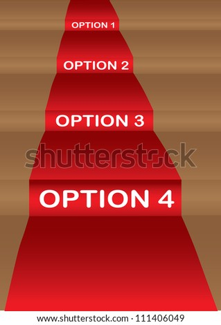 Vector illustration of red carpet floor layout.