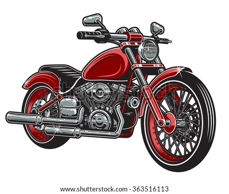vector illustration of red