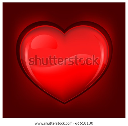 Vector illustration of red hearts on dark background Valentines Day element for design