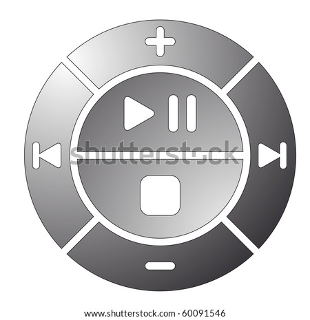 vector illustration of remote control buttons