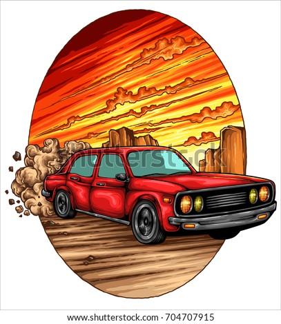 vector illustration of retro