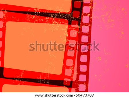 Vector illustration of retro Grunge Abstract cinema background