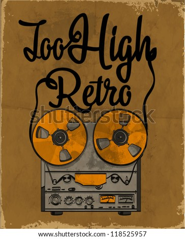 vector illustration of retro