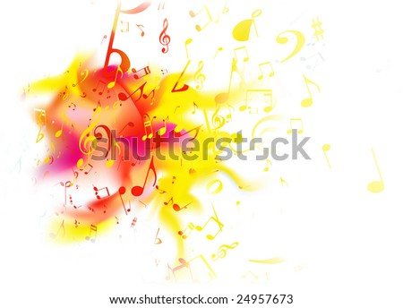 Vector illustration of retro style summer music Abstract background